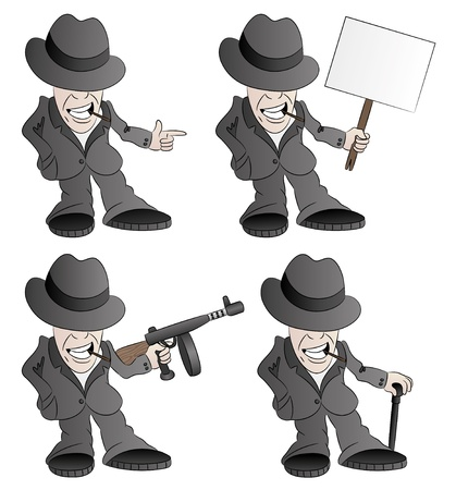 Vector set  Man   Vector