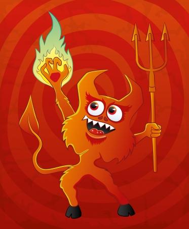 Vector illustration  Devil Stock Vector - 21609683