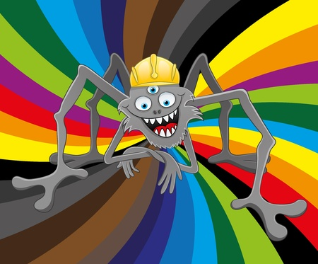 Vector illustration  Spider   Stock Vector - 21609694