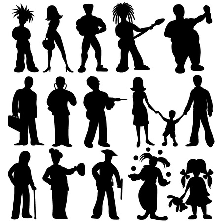Vector silhouettes  Peoples set