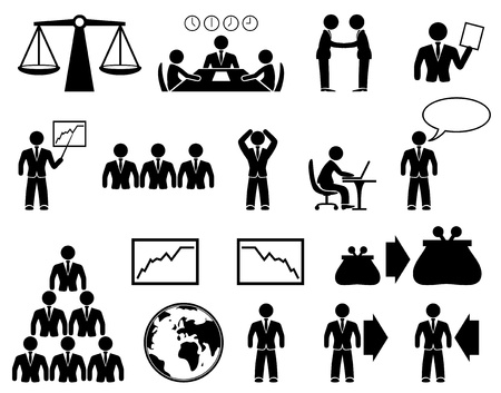 business decisions: Vector  Business icons