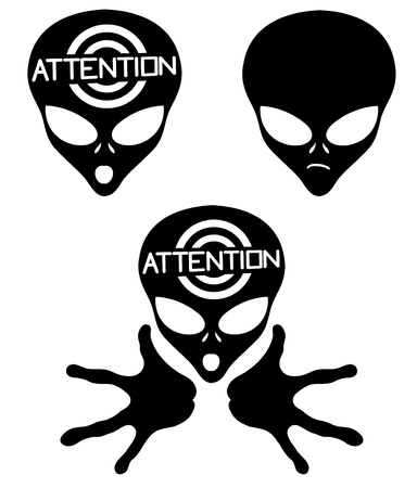 Vector  Alien icons   Stock Vector - 21609720