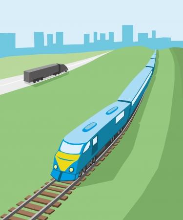 tren caricatura: Vector imagen Tren