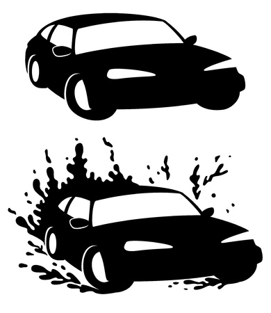 Vector  2 icons  Car   Stock Vector - 21609747