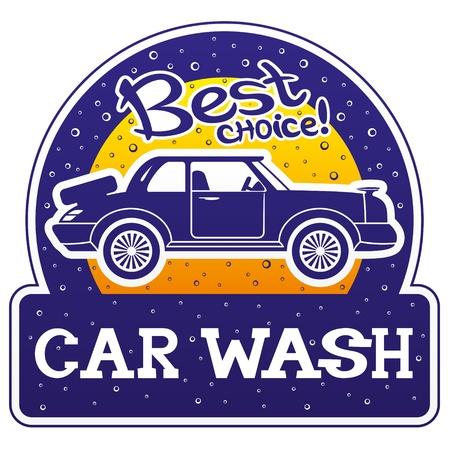 car race track: Vector  Car wash  Illustration