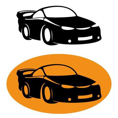 Vector  2 icons  Car   Stock Vector - 21609759