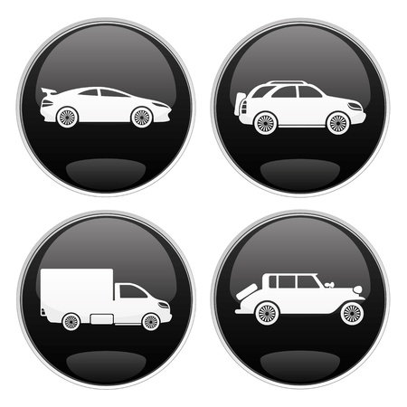 Vector  4 Car icons Stock Vector - 21609779