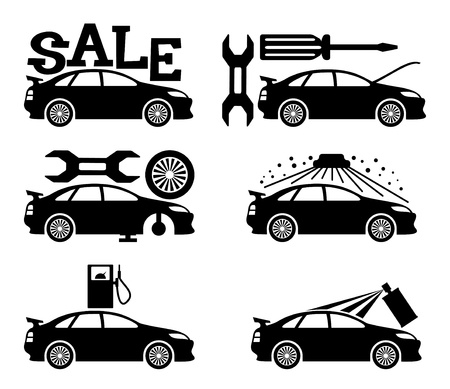 car wash: Vector  Cars   Illustration