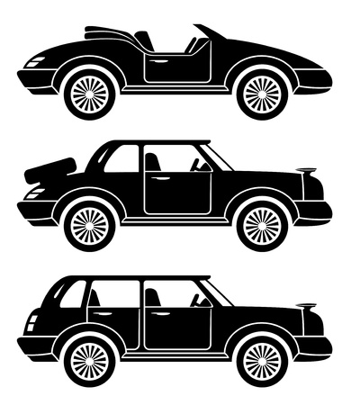 Vector  3 icons  Cars   Stock Vector - 21633305