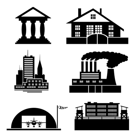 Vector  Building icons