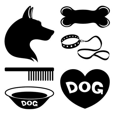 Vector  Dog icons   Vector