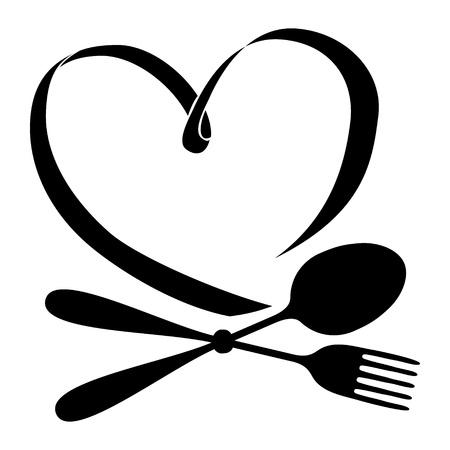 Vector cucchiaio e forchetta