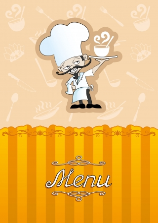 Vector  Menu illustration for restaurant, cafe   Vector