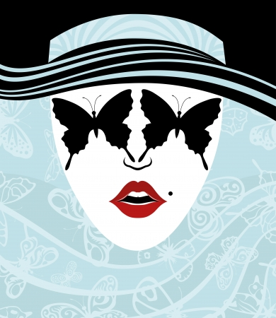 femme papillon: Vecteur Femme