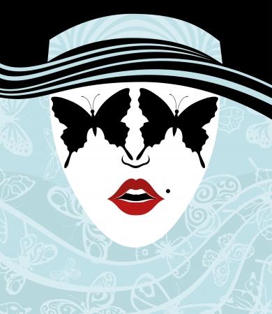 donna farfalla: Vector Donna