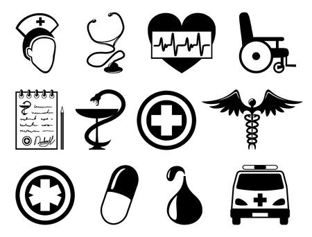 iconos medicos: Vector 12 iconos de m�dicos