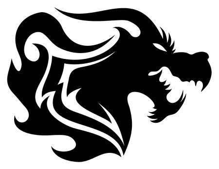 dragon tattoo: Dragon Vector