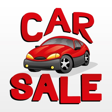 Vector illustration  Car sale   Vector