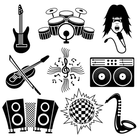 Vector  Music icons   Stock Vector - 21633768
