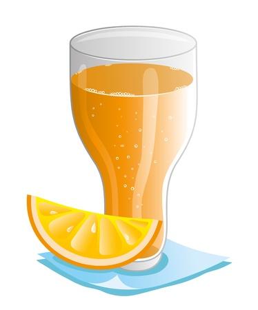 Vector  Orange juice
