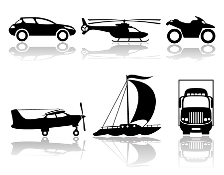 Vector  Transportation icons   Vector