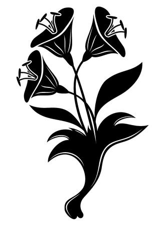 brie: Vector Bloem teken Stock Illustratie