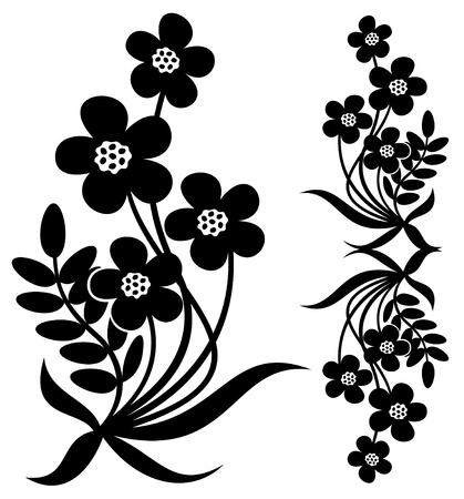 brie: Vector bloem tekenen Stock Illustratie