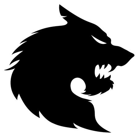 lobo feroz: Vector silueta del lobo