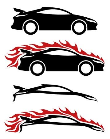 4 iconos vectoriales Coches