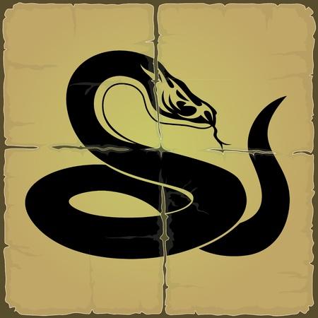 adder: Vector  Black snake