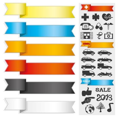 car bills: Ribbons and icons