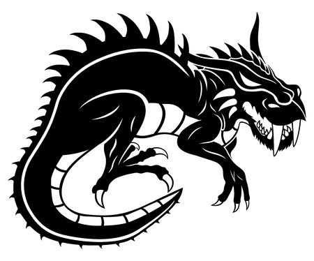 thorn: Black dragon   Illustration