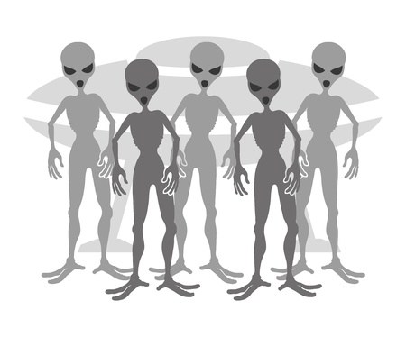 Aliens Stock Vector - 21669524