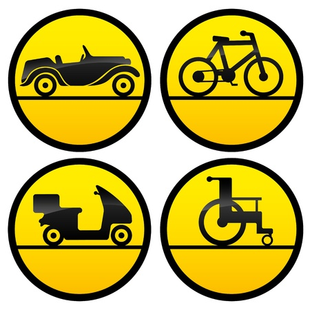 4 transportation icons   Illustration