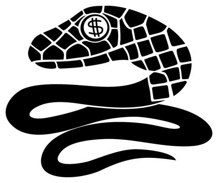 adder: Black snake   Illustration