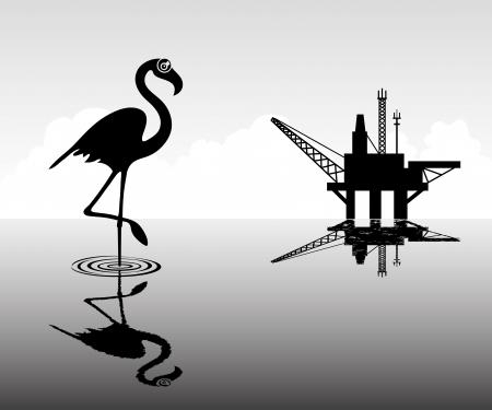 oil rig: Nature  Illustration
