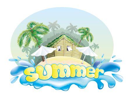 Summer illustration   Vector