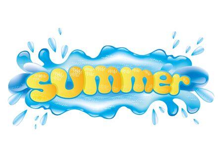 splash de agua: Salpicaduras de agua Vectores