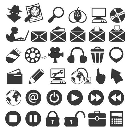 Universal icon set  Stock Vector - 21875052