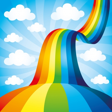 arcoiris caricatura: Fondo de arco iris