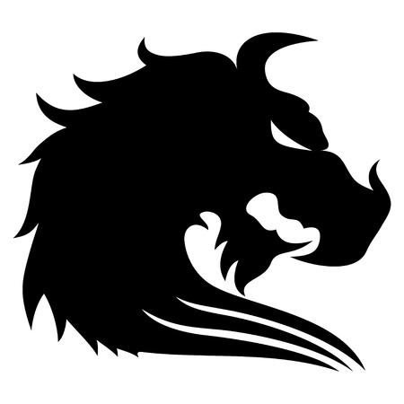 Zwarte draak Stock Illustratie
