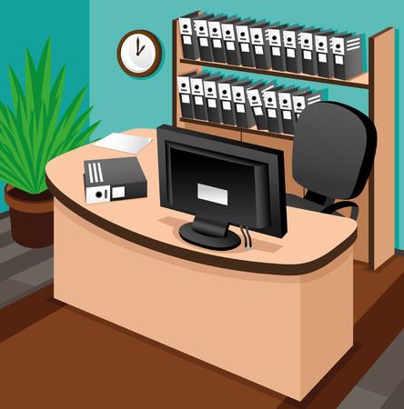 Business illustration  Office  Vector