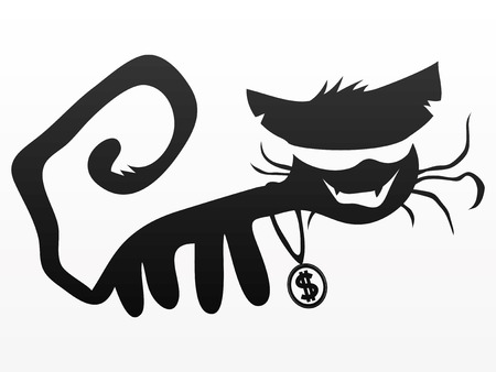 money cat: Gato negro