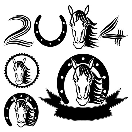 horse shoe: Horse, the symbol of new year