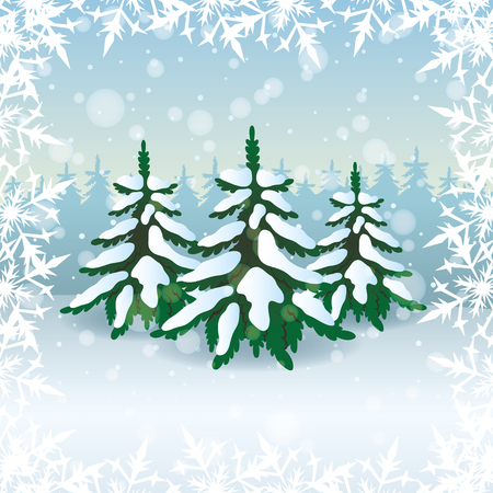 Winter illustration   Stock Vector - 23815847