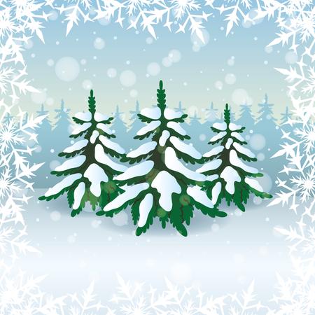 Winter illustration Stock Vector - 23815847