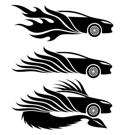 racing sign: Cars  Illustration