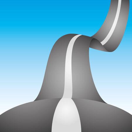 driveway: Road  Illustration