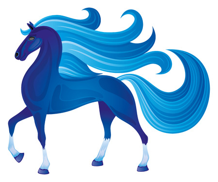 the arabian mare: Blue horse