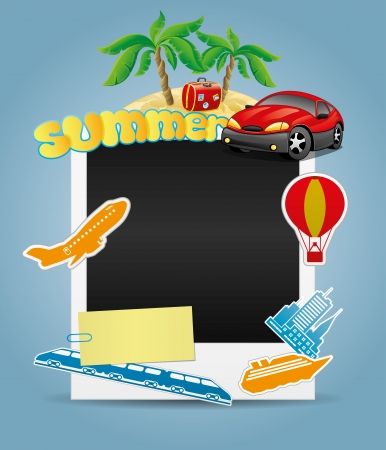 Summer photo frame   Vector